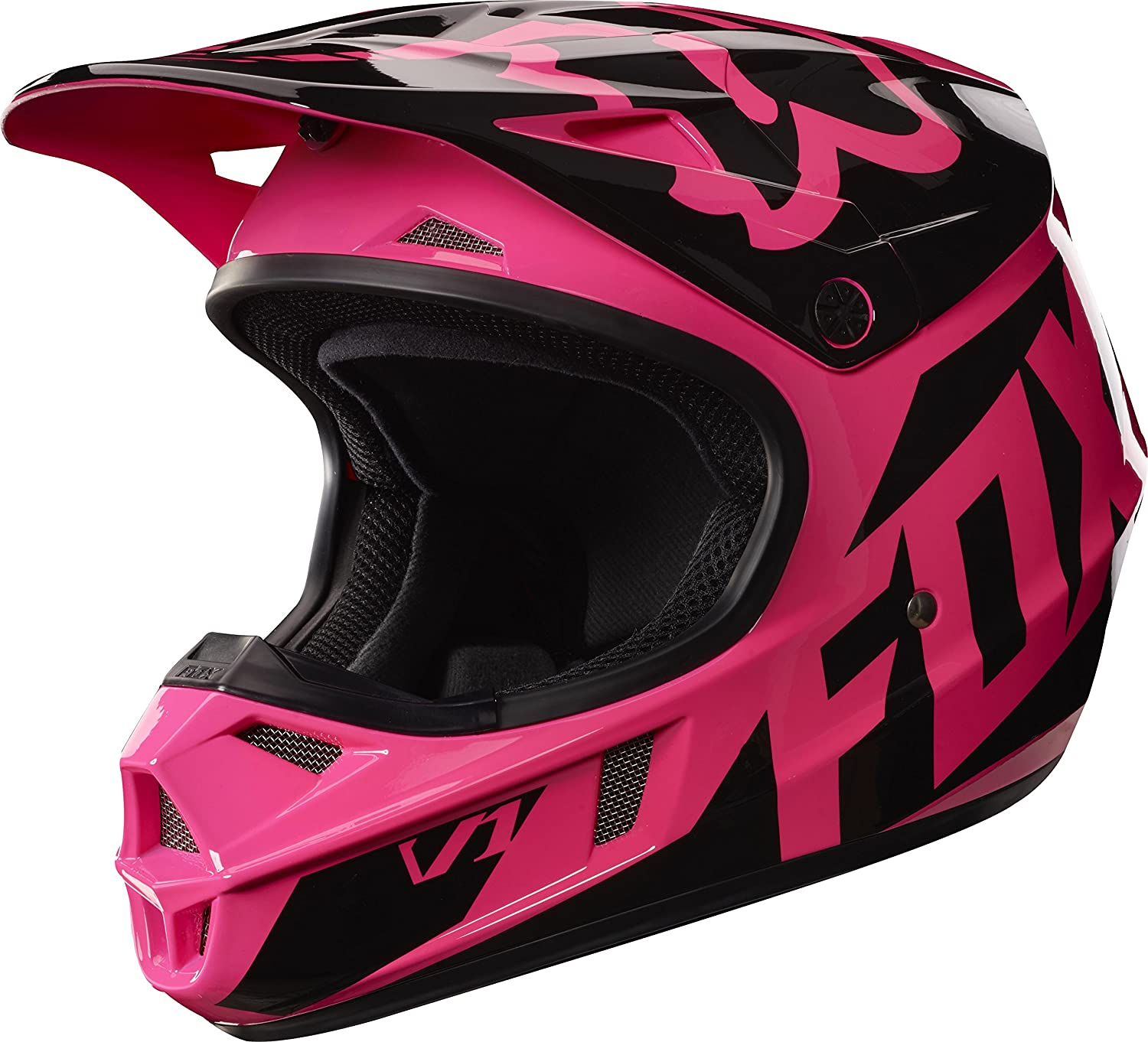 2017 Fox Racing Youth V1 Girls Race Helmet-YS COMINU056804