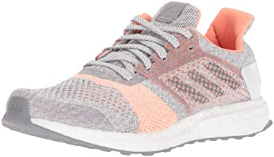 huge selection of 0229a e9d34 adidas Womens Ultraboost ST Running Shoe Crystal WhiteGreyClear Orange 8  ...