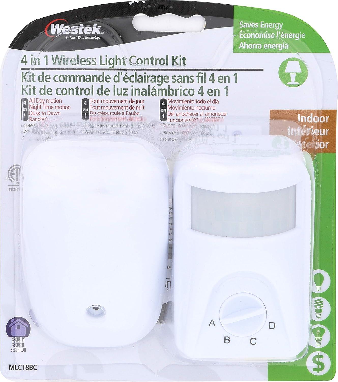 Westek MLC18BC 4-in-1 Wireless Control, White - - Amazon.com