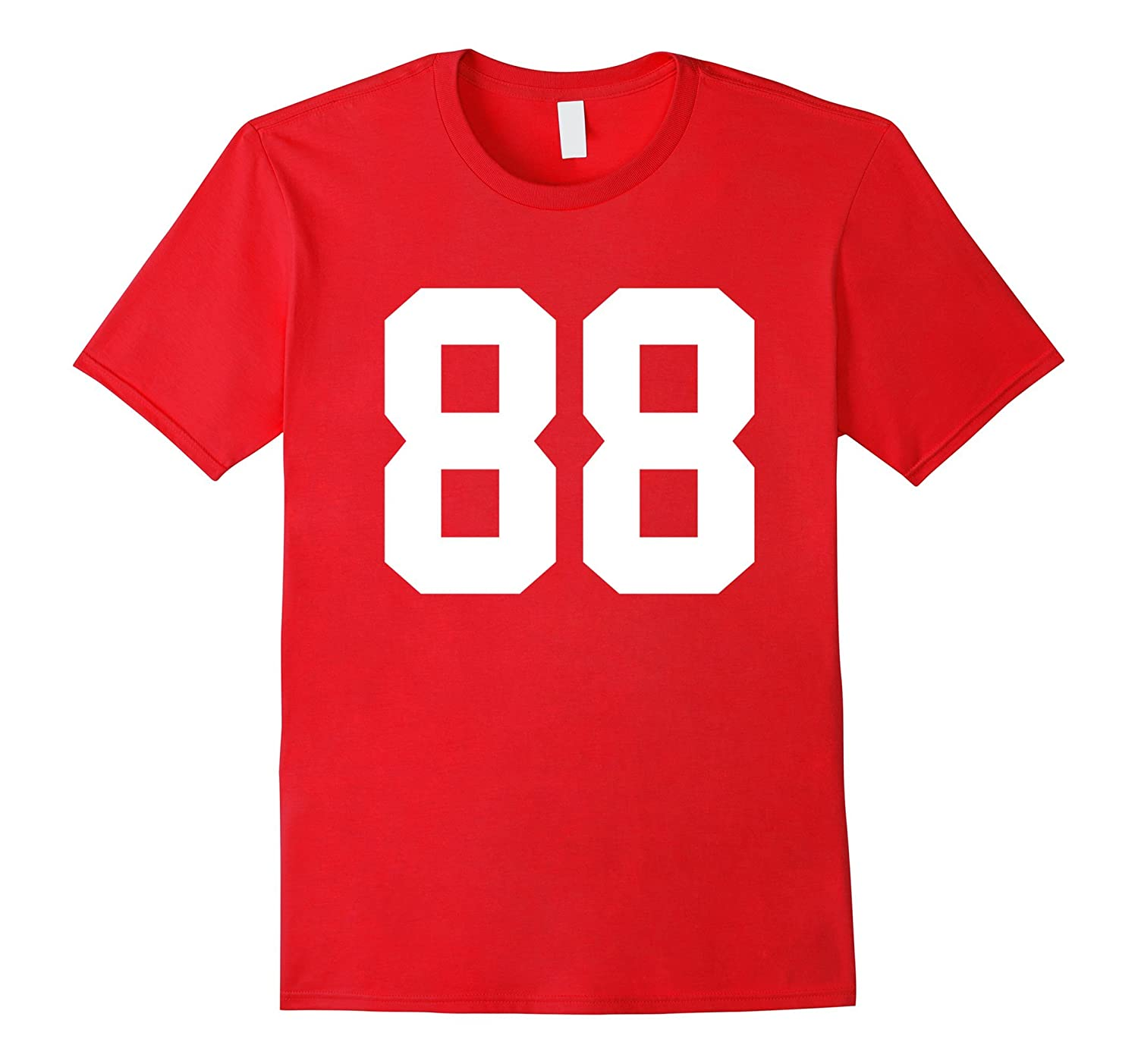 #88 Team Sports Jersey Number Front & Back Player / Fan Tee-TH