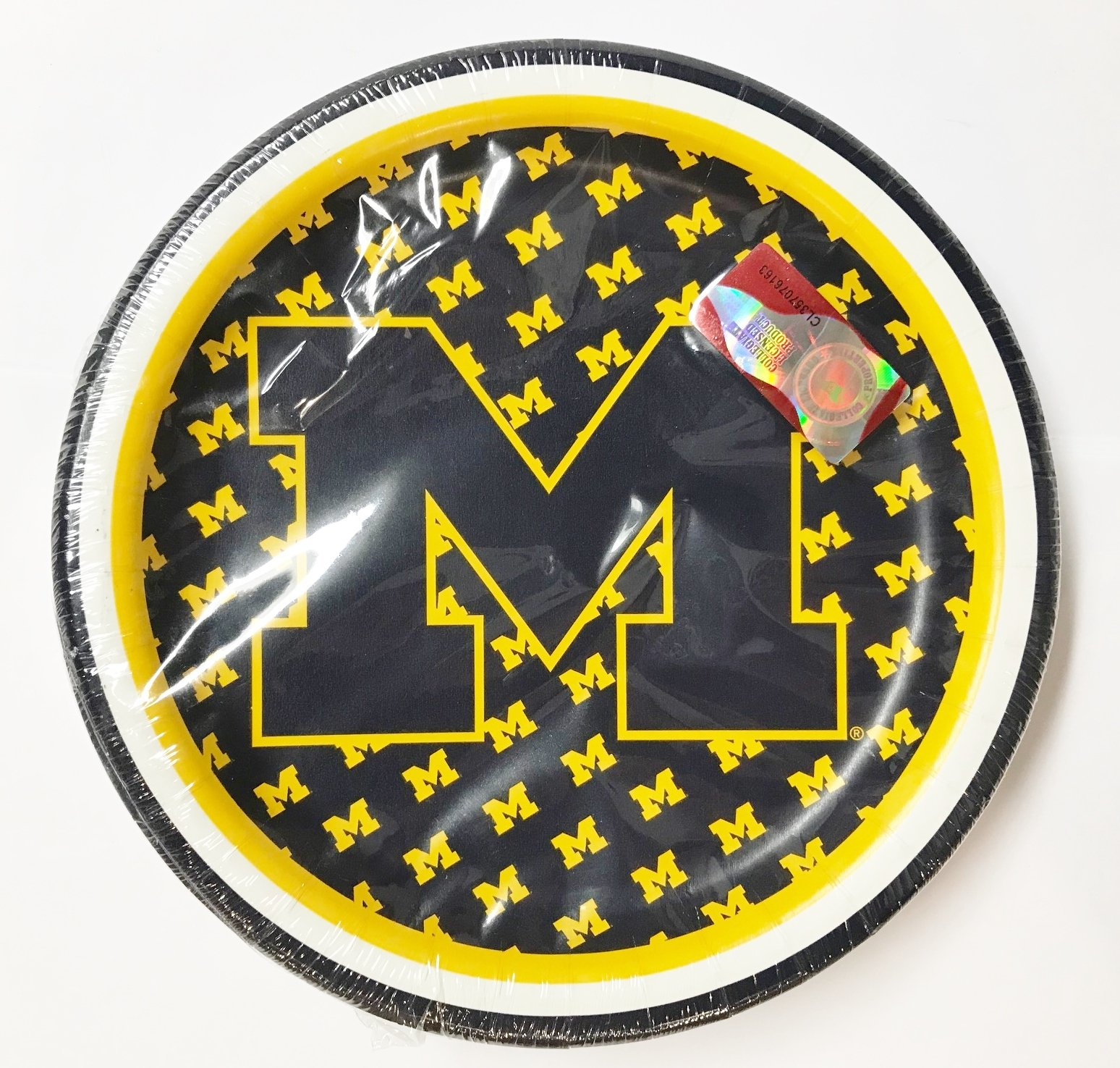 University of Michigan 7 Inch Party Plates - Officially Licensed (Pack of 40)