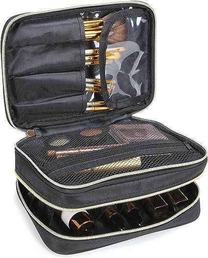 Lifewit Neceser Maquillaje 2 Pisos Bolso para Mujer Profesional Estuche Bolso de maquillaje Bolsa de Cosméticos Organizador Portátil Funda de Viaje para Cosméticos: Amazon.es: Belleza