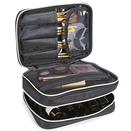 65f374bab Lifewit Neceser Maquillaje 2 Pisos Bolso para Mujer Profesional Estuche  Bolso de maquillaje Bolsa de Cosméticos