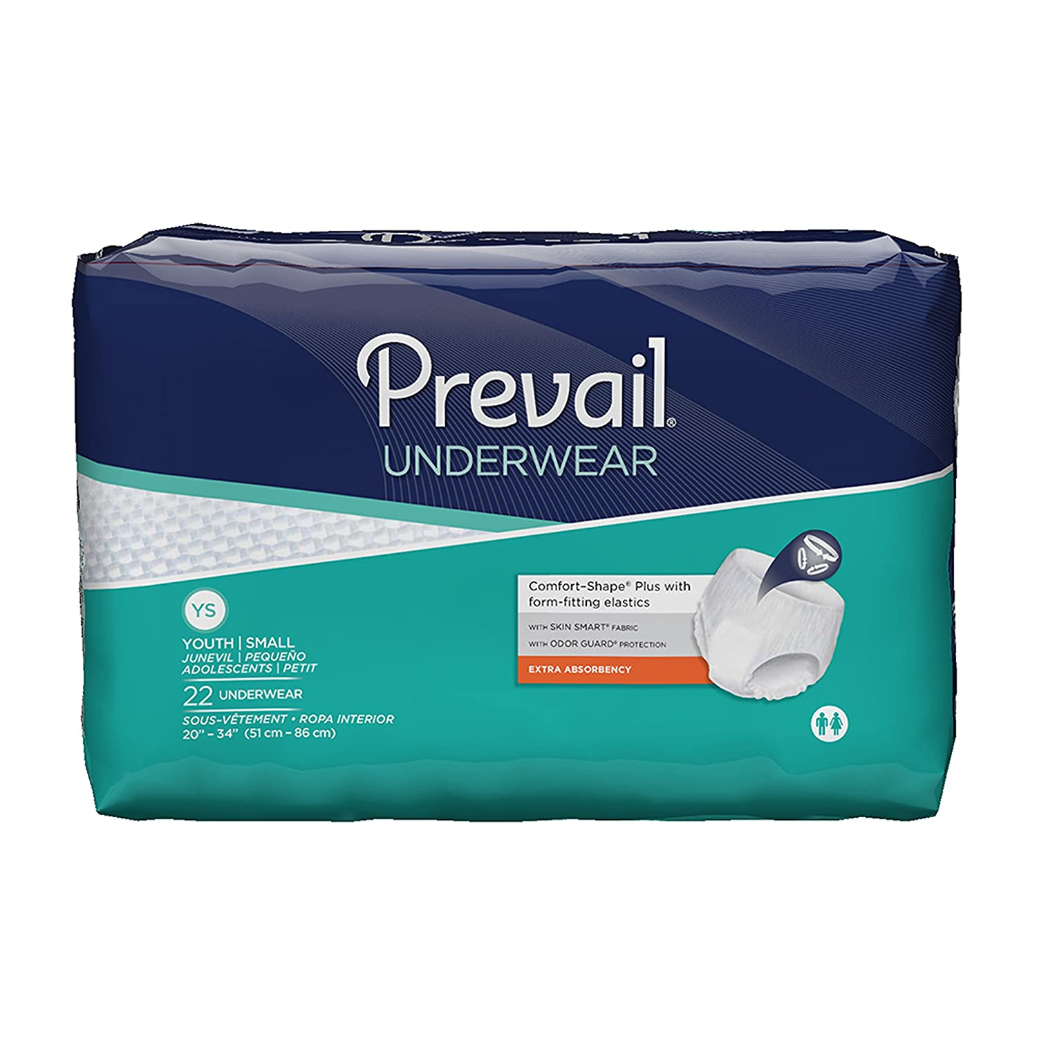 Amazon.com: Prevail Extra Absorbency Incontinence Underwear, Medium, 20-Count: Health & Personal Care