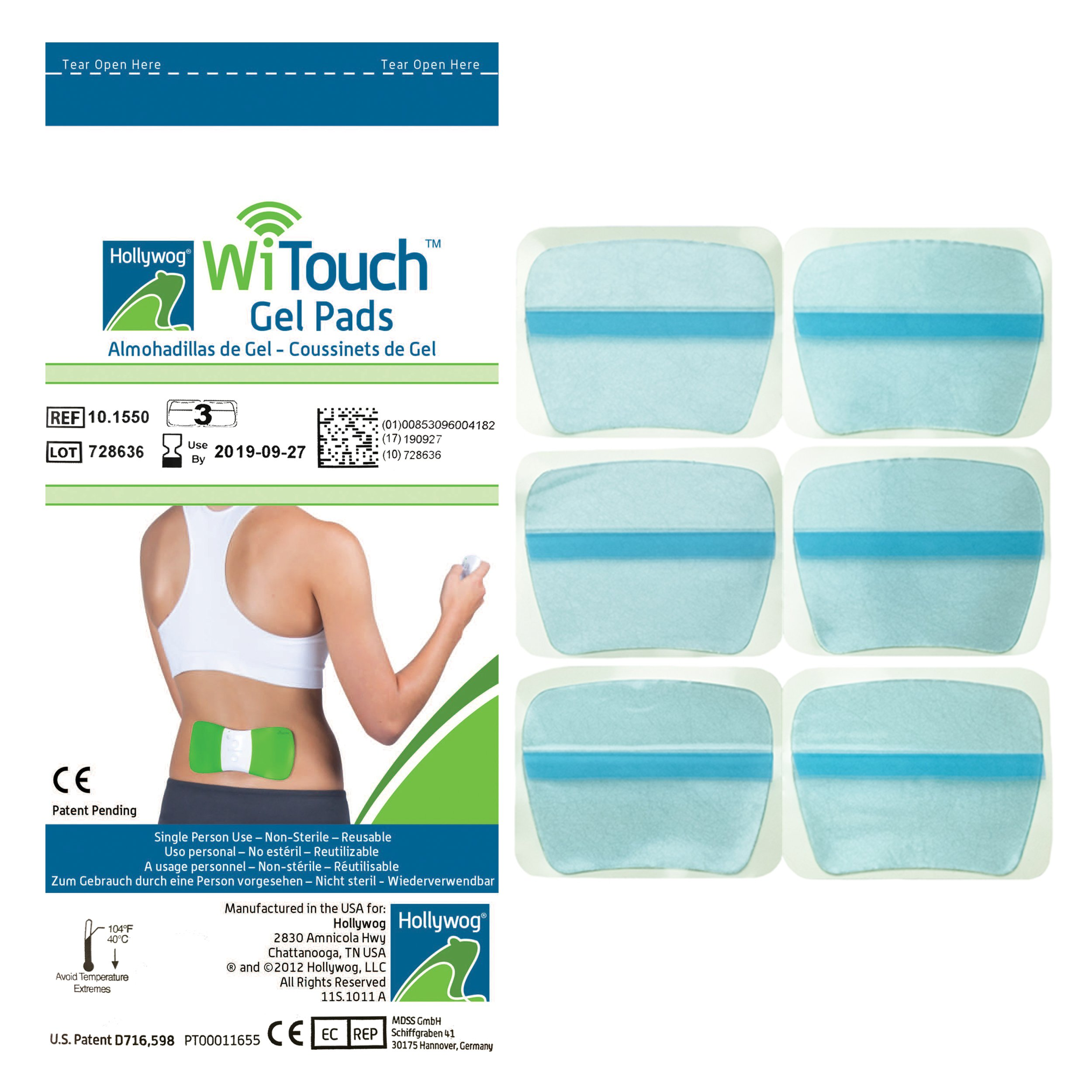 Witouch Gel Pad Refills - 1 Pack of 6 Pads (3 Pairs of Gel Pads)