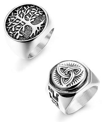 Amazon.com: Hanpabum - Juego de 2 anillos de acero ...