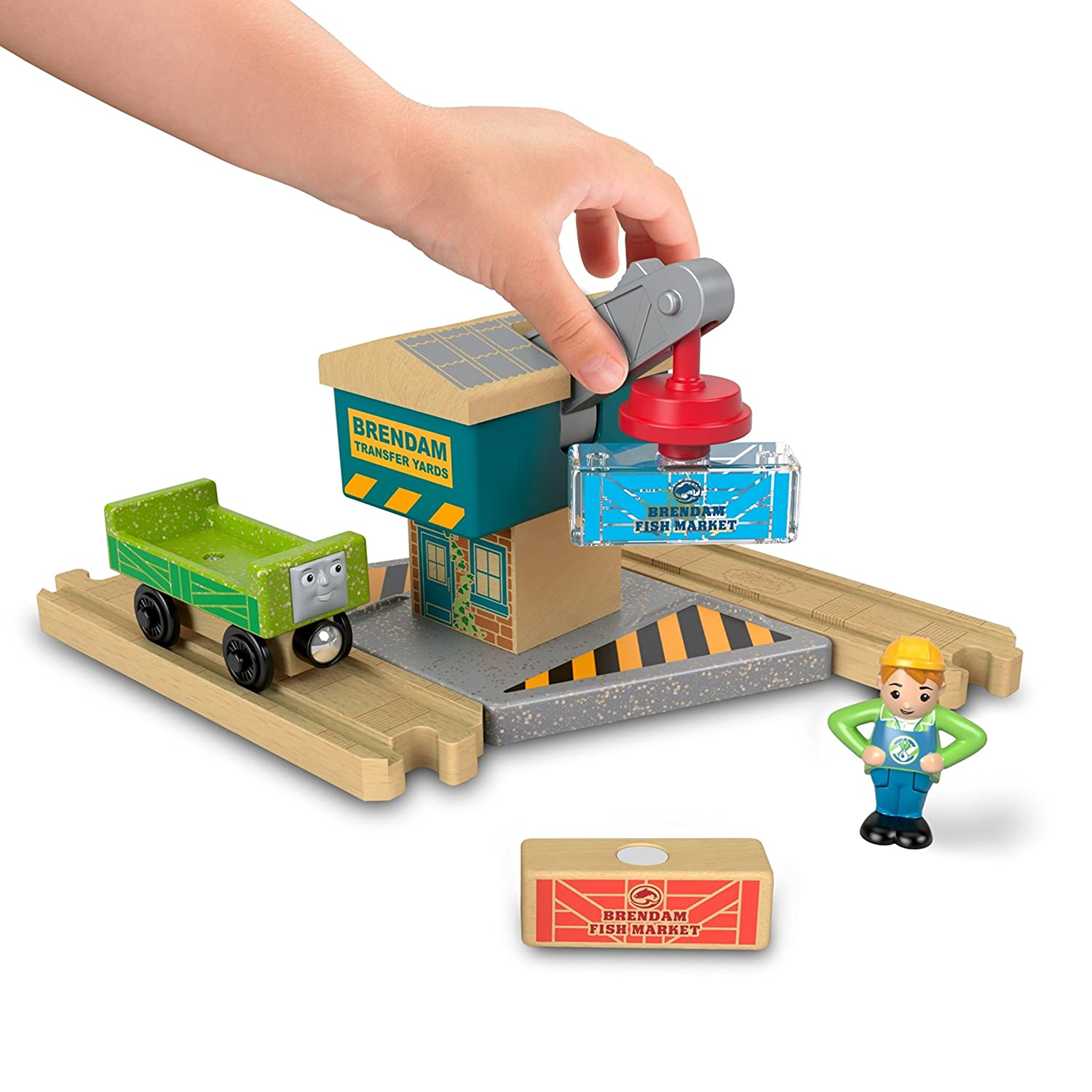 Fisher Price Thomas Friends Wood Spin Lift Crane