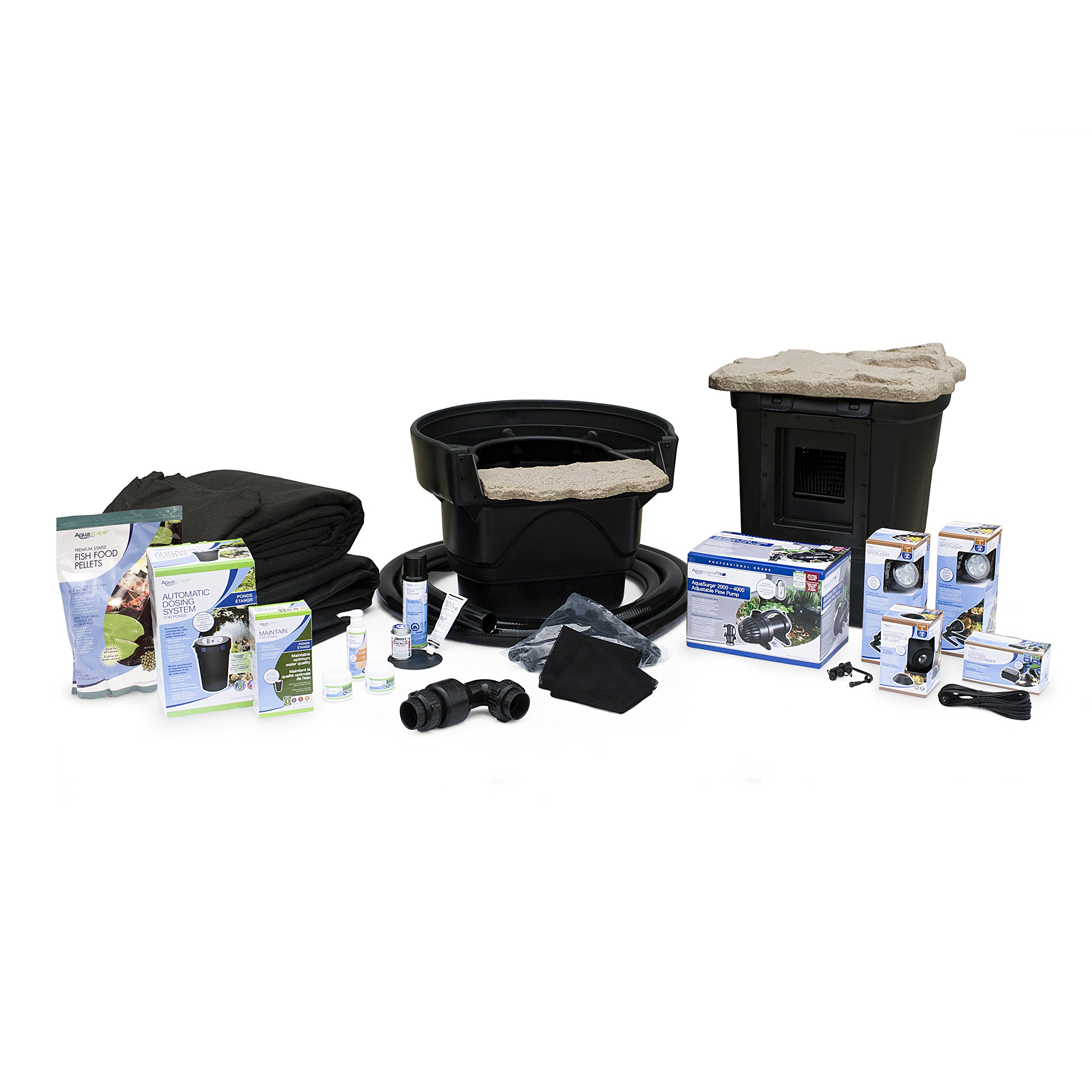 Aquascape Complete Pond Kit 11 Feet x 16 Feet |Medium| AquaSurgePRO 2000-4000 Pump