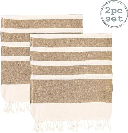 Nicola Spring Toalla de baño - Microfibra de 100 % algodón Turco - Beige - Pack de 2: Amazon.es: Hogar