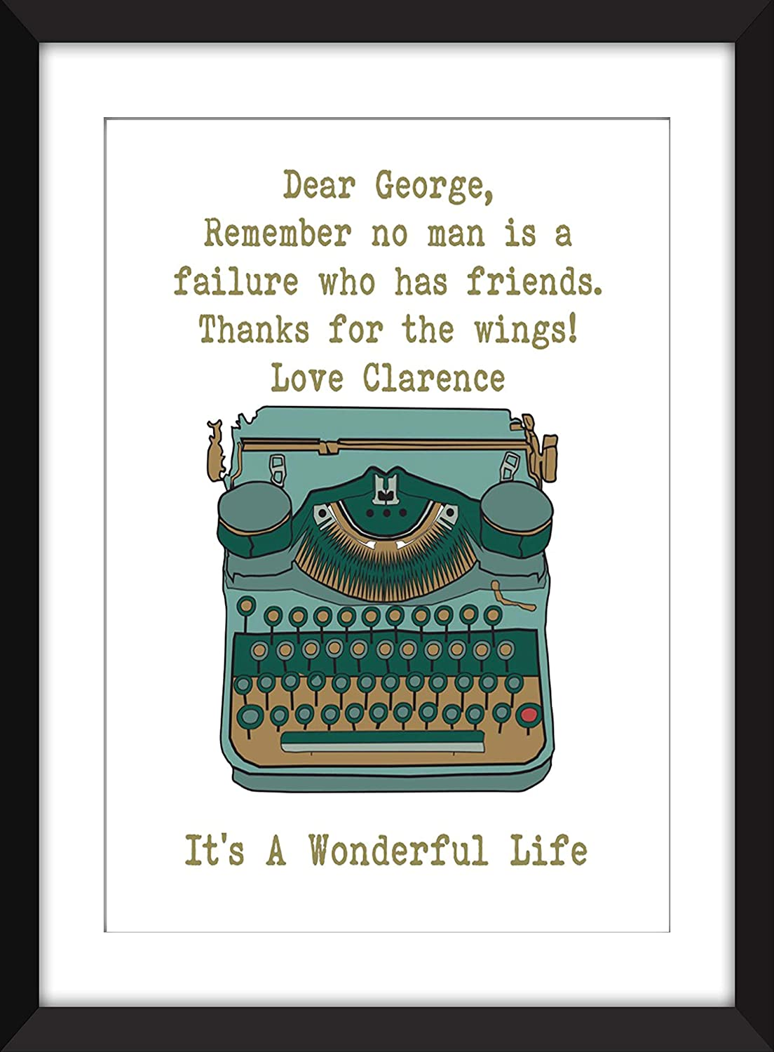 It's A Wonderful Life - No Man Is A Failure Who Has Friends - Unframed Print/Sin marco