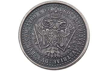 klassische Metall Knöpfe Münze Adler Motiv silber geschwärzt 6 Stück