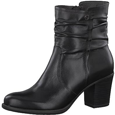 57879a1db7d1e Tamaris Damen Stiefelette 25341-21,Frauen  Stiefel,Boot,Halbstiefel,Damenstiefelette,Bootie,Reißverschluss,Blockabsatz  7cm