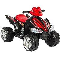 Kalco Toys Royaume-Uni Kalco _ 9917_ BLK Neuf pour Enfant électrique Ride on Quad, Noir/Rouge