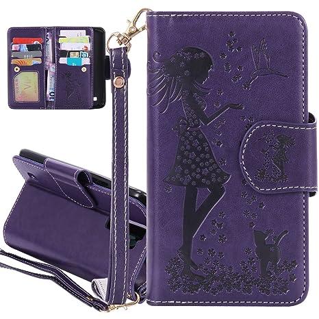 ISAKEN LG K8 Funda, carcasa lg K8, elegante bolso mariposa ...
