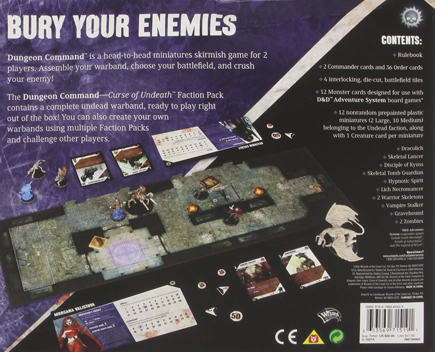 Role Playing /& Fantasy Games//Puzzles Pastimes /& Indoor Games Role-playing war games /& fantasy sports Dungeon Command Curse of Undeath Wizards of the Coast 398700000 Role Playing /& Fantasy ANF Hobbies and Games Games /& Activities