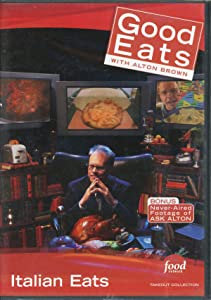 Food Network Takeout Collection DVD - Good Eats With Alton Brown - Italian Eats Includes Seeing Red / Flat is Beautiful Pizza / Seeing Red / Use Your Noodle 2 Ravioli