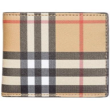 Burberry cartera billetera bifold de hombre en piel nuevo Hipfold marrón: Amazon.es: Ropa y accesorios