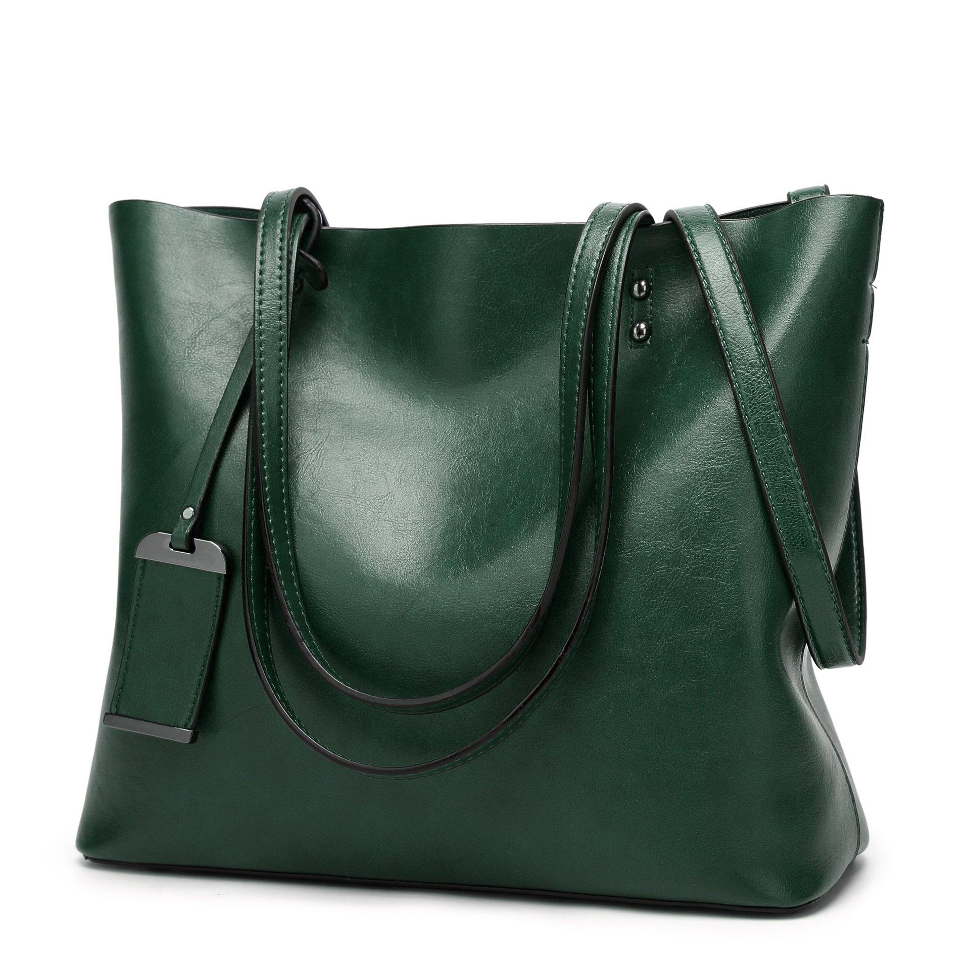 Obosoyo Women Shoulder Tote Satchel Bag Lady Messenger Purse Top Handle Hobo Handbags Green