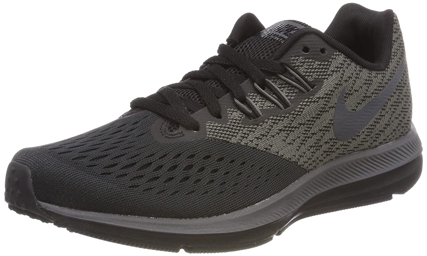 NIKE Womens Zoom FLO 4 Fabric Low Top Lace up Running Sneaker B01N3SOO73 6 B(M) US|Anthracite/Dark Grey-black