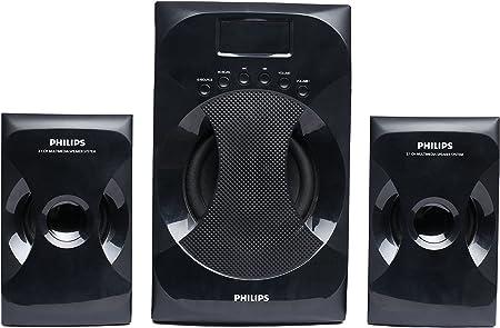 Philips MMS 4040F/94 2.1 Channel Multimedia Speaker System  Black  Multimedia Speaker Systems
