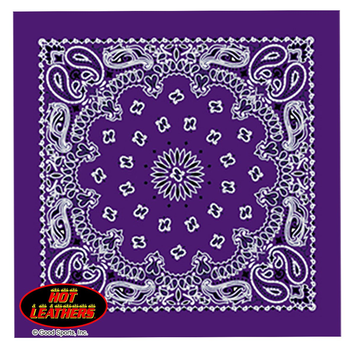 Bikers Bandanas Collection Original Design, 21 x 21 - BANDANA PURPLE PAISLEY DESIGN