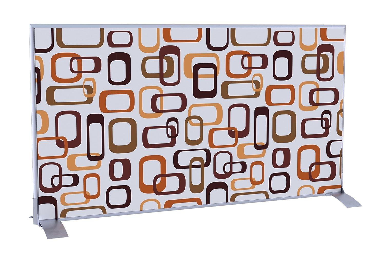 Paperflow ES0001 EasyScreen Customized Screen Panel, Primärblöcke, 70-6/7 x 38-4/7 x 1-7/9 Zoll, Mondrian Muster Horizontal Ineinandergreifende Ovale