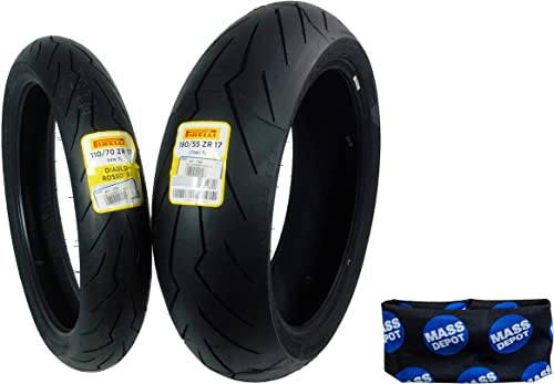 Pirelli Diablo Rosso III Front & Rear Street Sport Motorcycle Tires Rosso Three Rosso 3