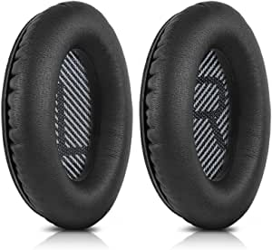 TERSELY Replacement Ear Cushions for Bose Quiet Comfort 35 (QC35), QuietComfort 35 II (QC35 II) Headphones, Complete with QC35 Shaped Scrims with 'L and R' Lettering QC2 QC15 QC25 Sound True Ear Pads