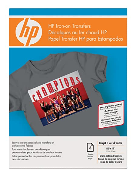 HP Iron-on Transfers for Color Fabrics (6 transfer Sheets, 8.5 x 11