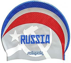 Gorro de silicona Russia | Gorro de Natación| Alta comodidad y ...