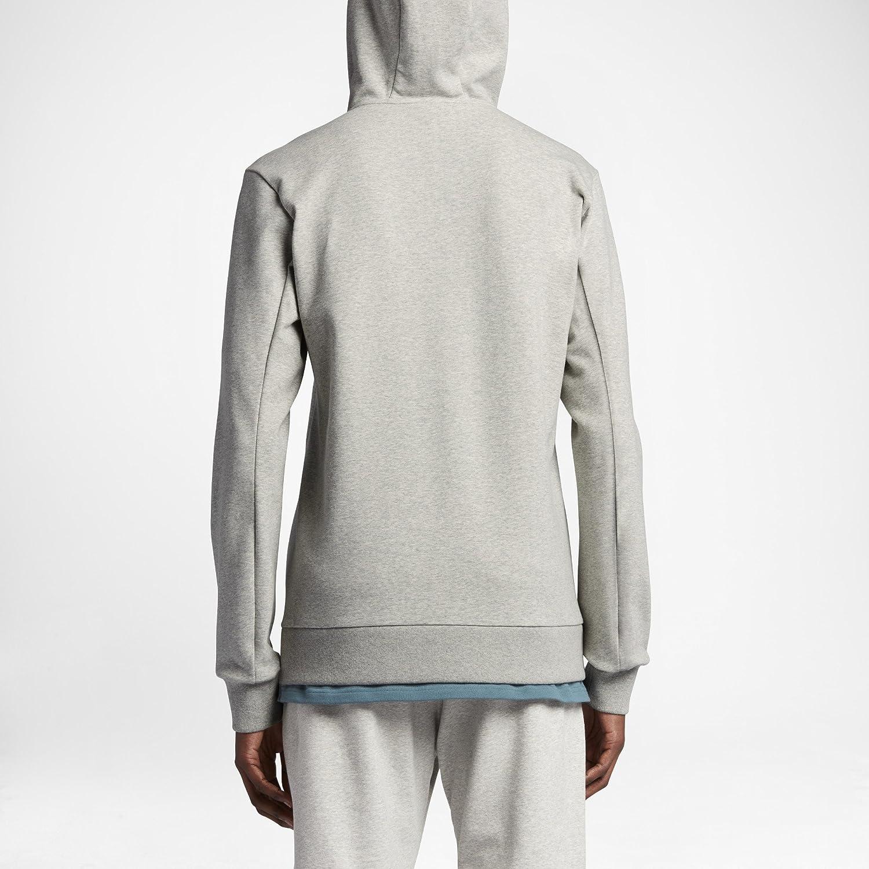 f188d465 Amazon.com: Nike Lab Essentials Fleece Men's Full-Zip Hoodie (Large, Grey  Heather/Black): Clothing