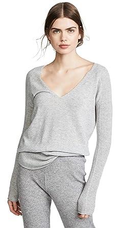9bb3dc7d7c M.PATMOS Women's Hutton Shirttail Cashmere Sweater, Grey Heather, X-Small