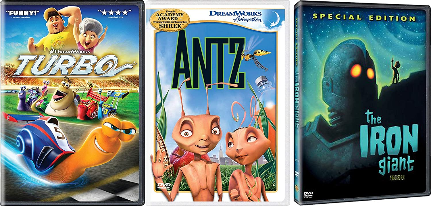 Family and Kids Favorite Animated Classics Bundle - Turbo, Antz & Iron Giant (Special Edition) 3-Movie Collection