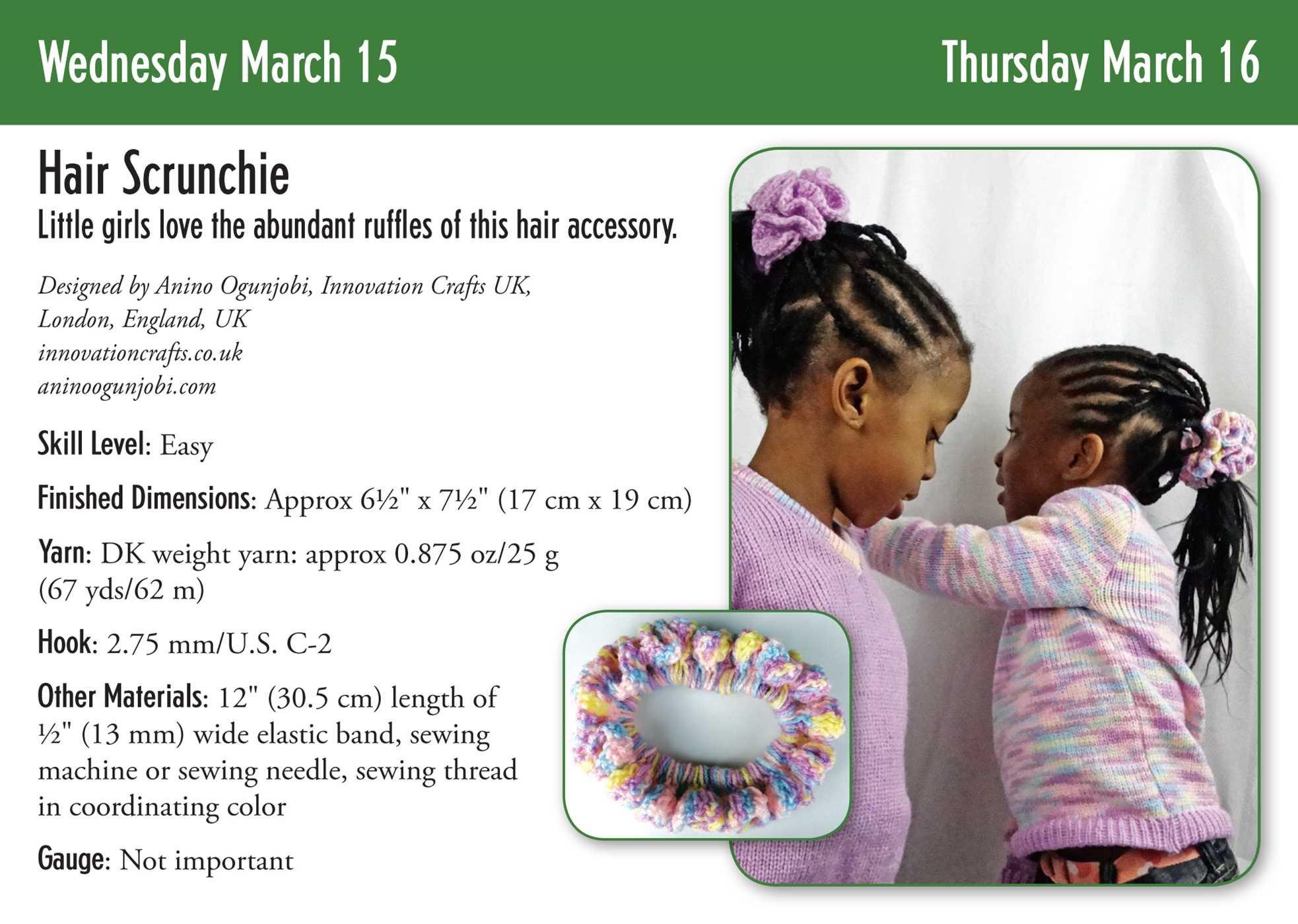 Magazine/ Book: Wow! My crochet hair scrunchie pattern is on Crochet ...