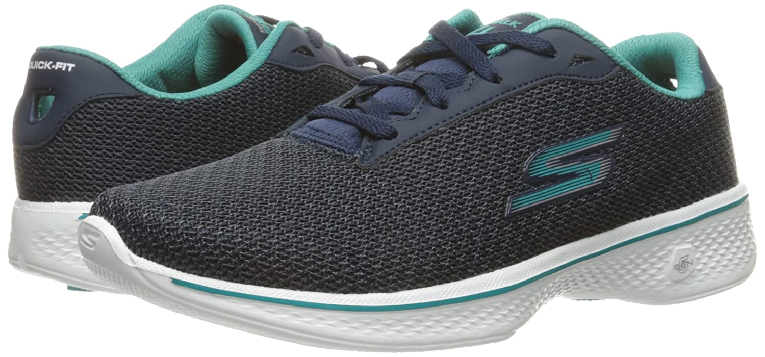 Skechers Performance Women's Go Walk 4 Lace-up Walking Shoe B01IIZ9G3U 13 B(M) US|Navy/Teal