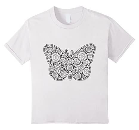 Butterfly T-Shirt to color in