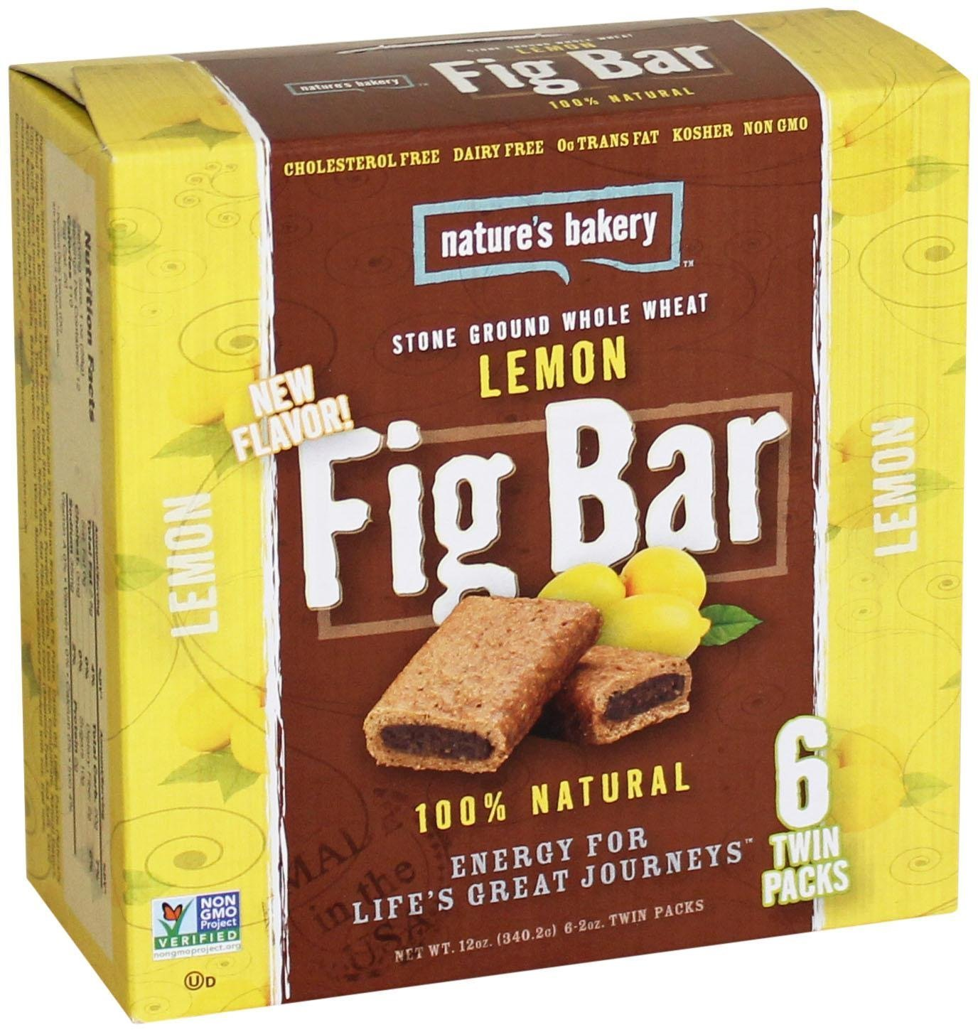 Nature's Bakery Whole Wheat Fig Bars - Lemon - 6 ct