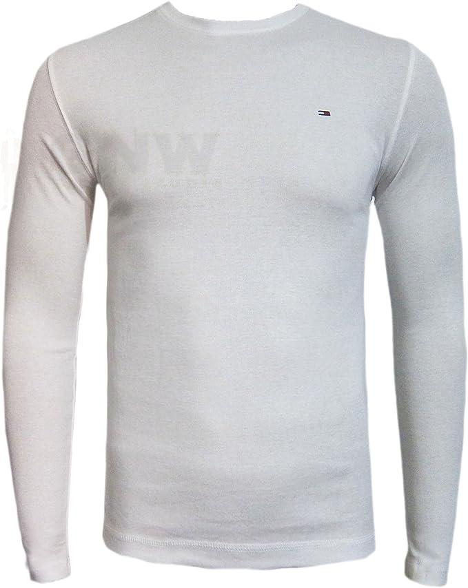TOMMY HILFIGER para hombre TRUMP tela vaquera T-camiseta de manga corta negro, de color blanco talla S, M, L, XL, XXL: Amazon.es: Ropa y accesorios