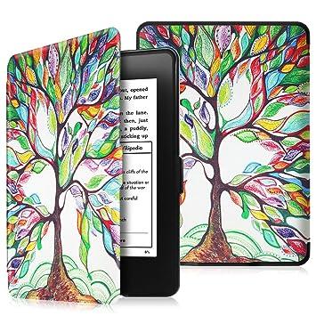 Fintie SlimShell Funda para Kindle Paperwhite - La Más Delgada y Ligera Carcasa de Cuero Sintético con Función de Auto-Reposo/Activación (No se Adapta ...