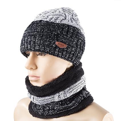 Amazon Winter Warm Knit Hat Neck Warmer Set For Men And Women