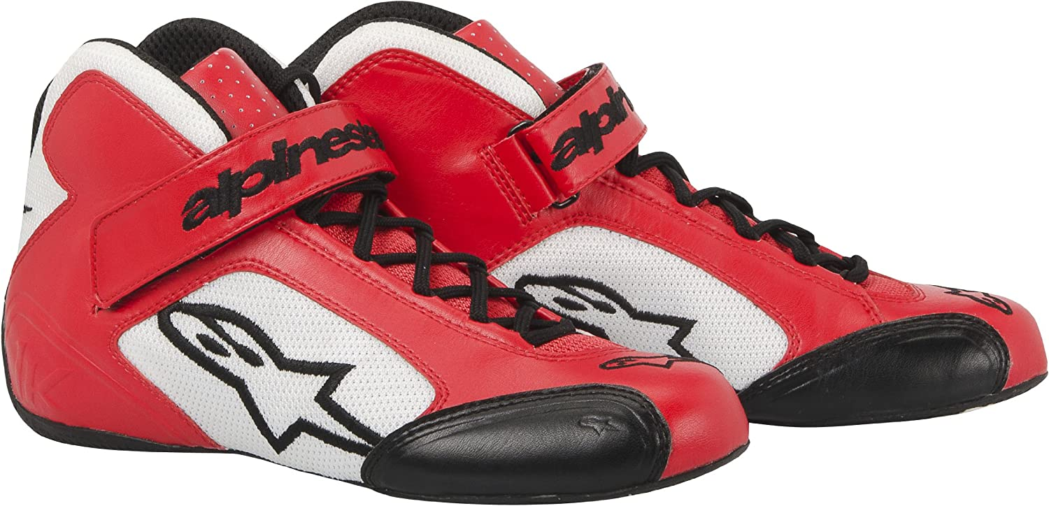 Alpinestars 2712013-32-11.5 Red//White Size-11.5 Tech 1-K Karting Shoes