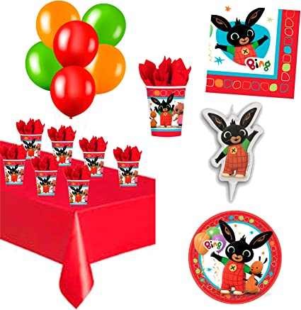 Boys Girls Birthday Bing Party Bunny Tablecover Table Cloth Character Tableware
