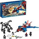 LEGO Marvel Spider-Man Spider-Jet vs Venom Mech...