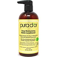 PURA D'OR Biotin Deep Moisturizing Conditioner Thickens, Softens, Smooths, & Moisturizes - For Dry, Frizzy, Damaged Hair…