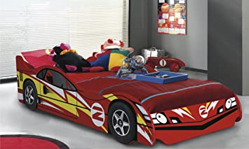 no 2 red childrens car beds boys racing red kids car bed frame