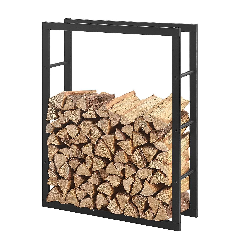 [en.casa] Kaminholzregal 100x100x25cm 100x100x25cm 100x100x25cm Brennholzregal Feuerholzregal Holzhalter 5a263d