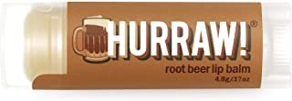 product image for Hurraw! Root Beer Lip Balm, 4.8g/.17oz: Organic, Certified Vegan, Cruelty and Gluten Free. Non-GMO, 100% Natural Ingredients. Bee, Shea, Soy and Palm Free. Made in USA