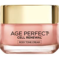 L'Oreal Paris Age Perfect Cell Renewal Tinted Rosy Tone Day Face Cream with LHA & Imperial Peony Extract, Anti-Aging, 50 ML