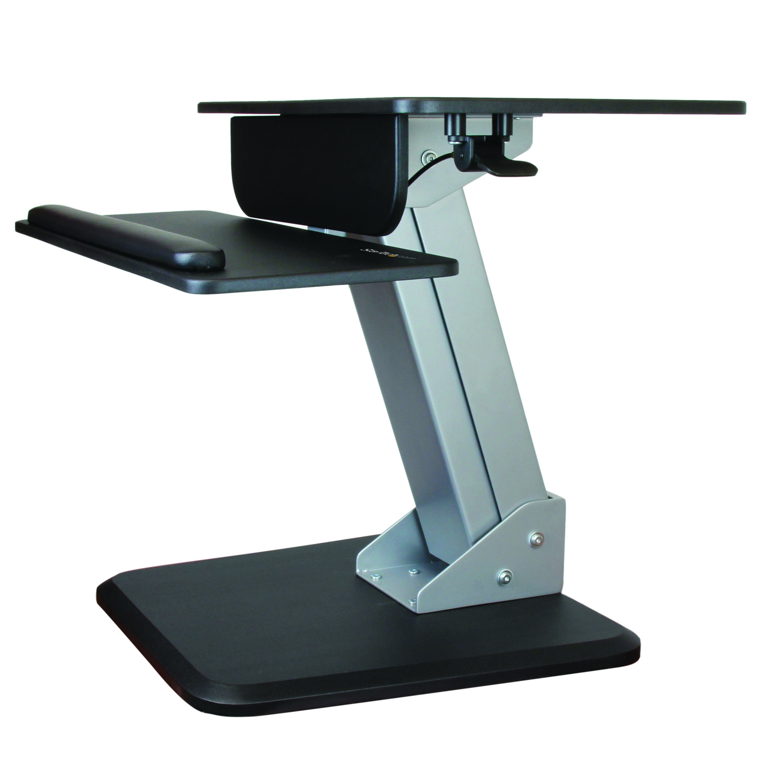 StarTech.com Height Adjustable Standing Desk Converter – Sit Stand Desk with One-finger Adjustment – Ergonomic Desk
