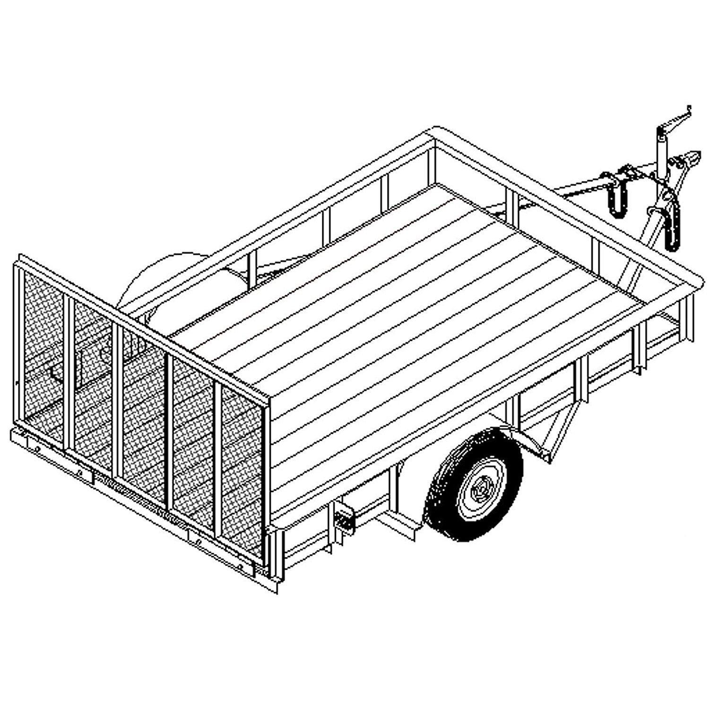 Utility Trailer Plans Blueprints 10 x 64 - Model T1110